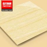 温馨暖黄调颗粒线石系列走廊卧室地板抛光瓷砖