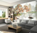 皮影雕花草系列瓷砖画背景墙