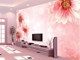 大花款瓷砖背景墙画