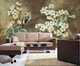 花草系列瓷砖背景墙