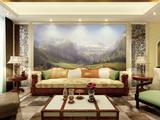 山景油画系列背景墙