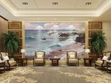 大海系列油画背景墙画