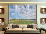 天空系列油画背景墙墙画